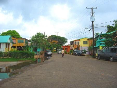 Placencia's main street.